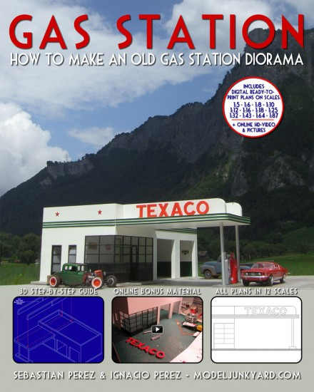 Gas Station – How to make an old gas station diorama – [book]