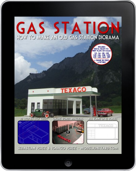 Gas Station - How to make an old gas station diorama - [ebook]