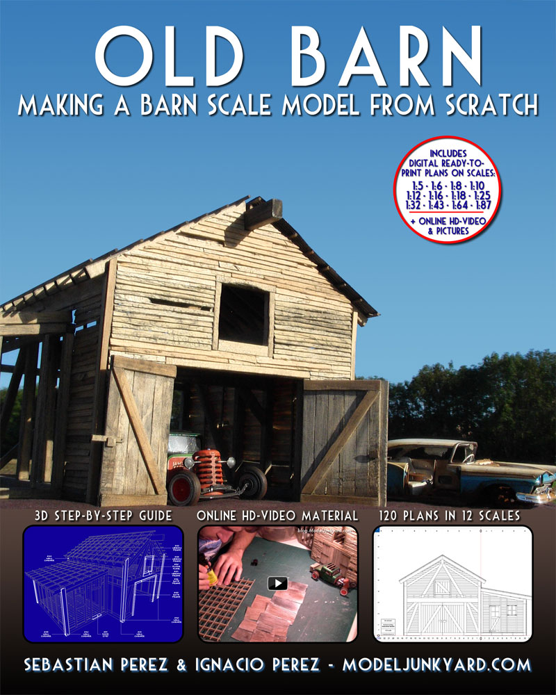 Old Barn – Making a barn scale model from scratch [book]