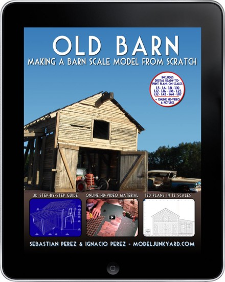 Old Barn – Making a barn scale model from scratch [ebook]