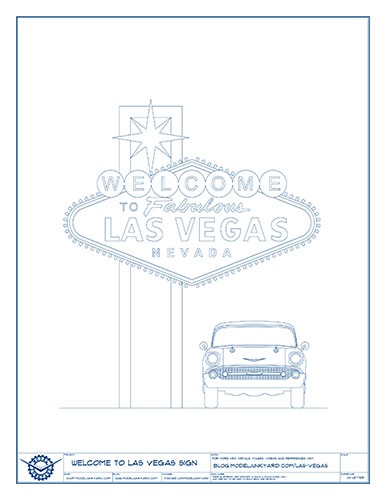 Welcome to Las Vegas sign – Front view