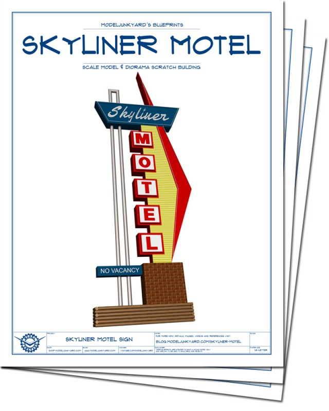 Skyliner Motel Sign Blueprints