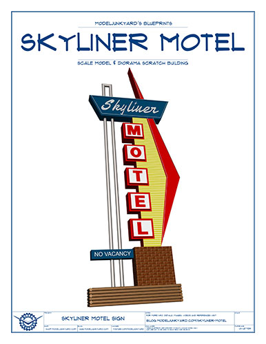 Skyliner Motel Sign Blueprints – Cover